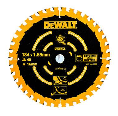 DeWALT DT10303 Cirkelzaagblad 184 x 16 mm | 40 Tanden
