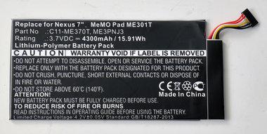 Asus Memo Smart 10, Li-Polymer, 3,7V,  nexus Memopad