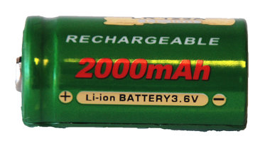 3 volt CR 123 li ion accu 2000 mAh !!