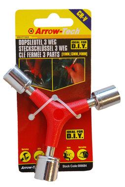 3 delige dopsleutel 11-13 en 14 mm