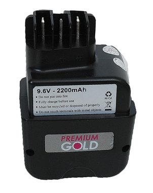 Metabo 9,6 volt 2,0 Ah staand model