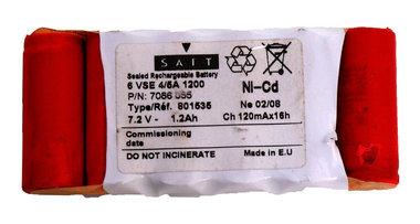 Wolf BS 60 vervangende accu 7,2 volt