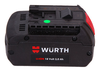 Wurth of Bosch 18 volt Li ion accu 3,0 ah