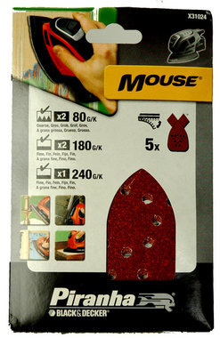Black and Decker schuurpapier v/d Mouse