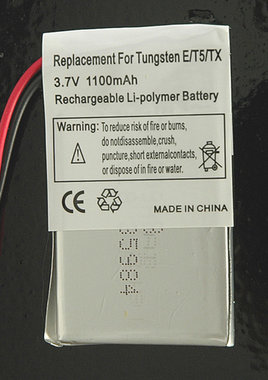 Tungsten 3,7 v Li ion accu