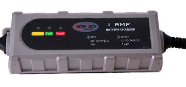 12 volt loodacculader 1,0  ah en druppellader