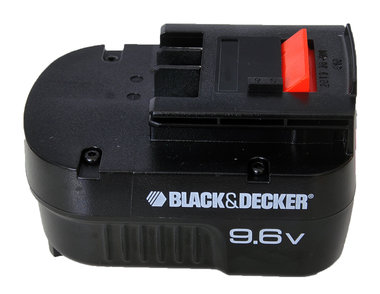 Black and Decker 9,6 volt slide accu origineel