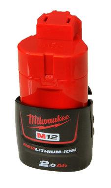Milwaukee M12 B2 Accu (12 V / 2.0Ah Redlithium-Ion)
