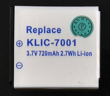 Klic-7001 accu kodak,medion,benQ enz