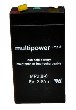 6 volt 3,8 volt onderhoudsvrij accu