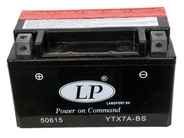 12 volt 6.0 Ah AGM start accu YTX 7A