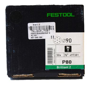 Festool ronde schuurschijfjes 90 mm  50 stuks