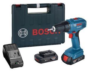 Blauw Bosch Prof 1800 met 2 accu's en lader + koffer