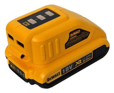 Dewalt DCB 090 USB laadapter 18 -14,4 en 10,8 volt