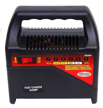 acculader voor 6 en 12 volt met led indicatie