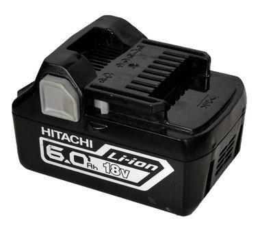 Hitachi 18 volt 6 Ah de nieuwste generatie