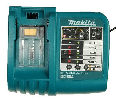 Makita lader DC 18 RA geschikt voor alle makita schuifaccu's
