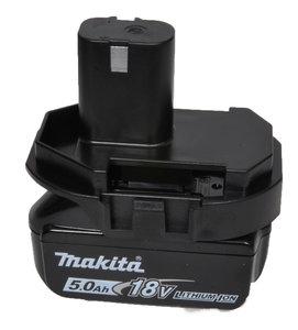 Makita adapter voor 18 volt machines met Li ion accu