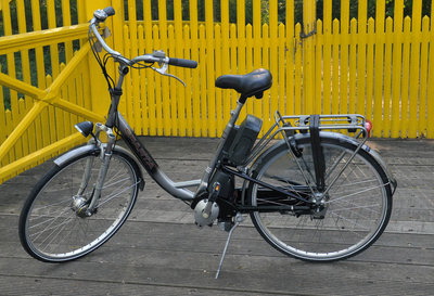 Sparta ebike met middenmotor en nieuwe accu